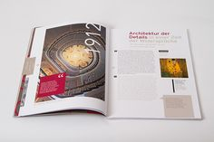 UBM annual report 2013 by Projektagentur Weixelbaumer, via Behance Editorial Design, Behance, Architecture, Editorial Layout