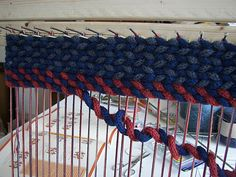Ravelry: shantelie's Medieval Icord twined rug << #icord #knittine #rug I like the effect, but Yoy! the work.