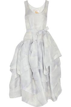 VIVIENNE WESTWOOD tiered silk organza dress