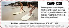 Robbie's Surf Lessons Hawaii Deals, Hawaii Vacation, Stand Up Surf, Maui Travel, Paradise Found, Sandy Beaches, Kauai, Diva, Surfing