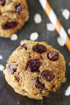 Vegan Pumpkin Breakfast Cookies on twopeasandtheirpod.com Love these healthy cookies! #recipe #cookies #pumpkin