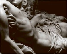 Proof that God bestows gifts on humanity through artists...  composition-improvisation:    Detail of Michelangelo's Pieta, c. 1499-1500
