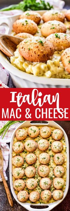 #ad Mac and Cheese is the ultimate comfort food, and this Italian version is our family's new favorite. Rich, creamy mac & cheese combined with Italian seasonings and @farmrichsnacks Mozzarella Bites. Perfect for #nationalcheeseday! #farmrichpartner Best Pasta Recipes, Vegan Recipes, Amazing Recipes, Cheesy Recipes, Noodle Recipes, Rice Recipes, Dessert Recipes, Side Dish Recipes, Easy Dinner Recipes