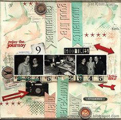 scrapbook page - good times