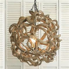 driftwood ball lighting