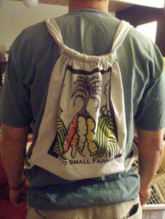 Draw String bag t shirt diy