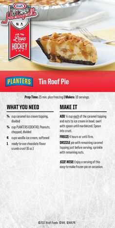 See how I fuel my passion for the puck. Check out this rink-ready Tin Roof Pie recipe.