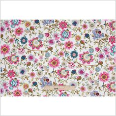 """Pink/White Floral Cotton Voile  Light weight, sheer  Product #: 307056  $11.99  / Yard  $10.79  / 52""""W"""