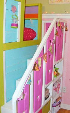 Sweet Pea Garden Bunk Bed Storage Stairs