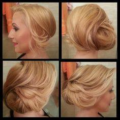 Hair updo! Classy!