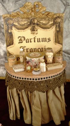 Miniature 1:12 Scale French PERFUME Display
