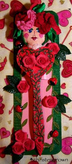 Rose Marie: This is another art doll that I have made using a paint brush, this one was actually our basting brush in the kitchen.