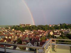 Regenbogen am 7 Juni 2012 ... direkt neben dem Tübinger Schloss