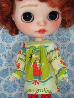 Nanette Noisettes Merry Christmas Blythe Dress by NanetteNoisettes