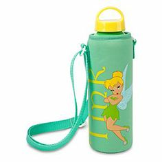 Disney Tinker Bell Water Bottle with Neoprene Cover | Disney StoreTinker Bell Water Bottle with Neoprene Cover - If you believe in fairies, you're sure to find a canteen companion in Tink's aluminum water bottle with soft, snug neoprene cover; the environmentally friendly way to carry and quench your thirst!
