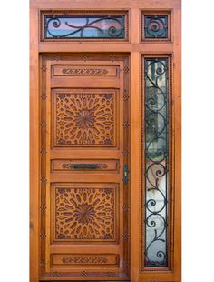 Wooden Front Door Design, Wooden Front Doors, Pooja Room Door Design, Pooja Rooms, Unique Doors, Villa Design, Room Doors, Entrance Doors, Exterior Design