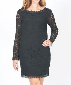 Look at this #zulilyfind! Black Lace Dress by Design 26 #zulilyfinds