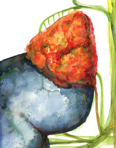 This is a print of an original watercolor painting I made. It shows the adrenal gland, part of the kidney and some of its vasculature. The vibrant color palette offsets the realistic painting style, making it perfect for a physicians office or living space of anatomy enthusiast.  NAME: The Adrenal Gland in Red, Blue and Green  PAPER & INK: The print will come on 100% cotton rag 300gsm Archival Matte Paper. This lovely museum-quality paper is acid-free and engineered for high contrast and ...