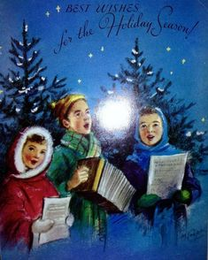 Old Christmas Post Сards — Carolers* Old Christmas, Old Fashioned Christmas, Vintage Christmas Cards, Retro Christmas, Christmas Bells, Christmas Greeting Cards, Christmas Carol, Christmas Pictures, Christmas Greetings