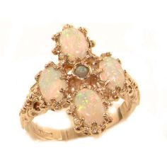Heavy Weight Victorian Design Solid Rose 9K Gold Natural Very Fiery Opal Ring - Size 8.5 - Finger Sizes 5 to 12 Available - Suitable as an Anniversary ring, Engagement ring, Eternity ring, or Promise ring LetsBuyGold http://www.amazon.com/dp/B005VDYFUW/ref=cm_sw_r_pi_dp_rdd3ub1GPTG6D