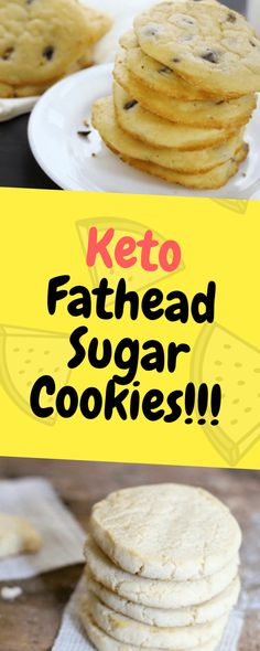 Fathead dough is a popular low carb dough that has revolutionized pizza. It is used in many savory and sweet applications like these keto fathead sugar cookies. Healthy Cookie Recipes, Diabetic Snacks, Healthy Cookies, Keto Snacks, Ketogenic Desserts, Low Carb Desserts, Low Carb Recipes, Keto Cookies, Sugar Cookies Recipe