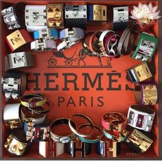 Must-Read: A Chic Guide to All Popular Hermès Bracelets – Tidbits of My Delicious Life Hermes Bracelet, Bangle Bracelets, Bangles, Candy Bracelet, Hermes Birkin, Jewelery, Chic, Magpie, Accessories