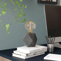 """Adria Concrete 9"""" Table Lamp"""
