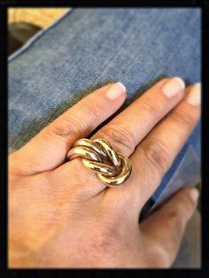 Anello nodo in bronzo lucido
