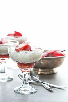 Maple Roasted Plums with Coconut Tapioca Pudding Recipe (Vegan, Paleo ...