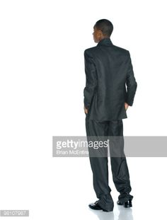 Stock Photo : Black Business Man Looking to the Future