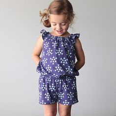 learn to make an adorable little girl's romper with this free sewing tutorial. free printable pattern in size 4T included.