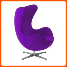 Egg Chair in Wool (Purple) - Improve your home (*Amazon Partner-Link)