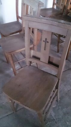Church chairs old but good
