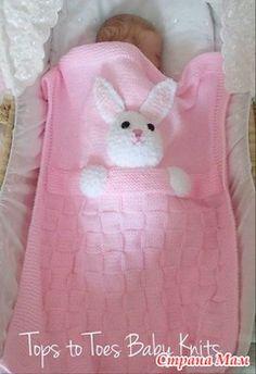 Baby blanket tricot bebe 70 ideas for 2019 Crochet Blanket Patterns, Baby Knitting Patterns, Baby Blanket Crochet, Handmade Baby Blankets, Knitted Baby Blankets, Quilt Baby, Handgemachtes Baby, Crochet Panda, Bunny Blanket
