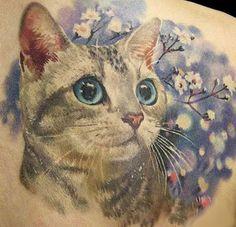 Cute kitty tattoo idea.