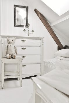Modern Country Style: Girls' Bedroom: Painted Furniture Click through for details. Kids Bedroom Paint, Girls Bedroom, Bedroom Ideas, Lego Bedroom, Bedroom Decor, Childs Bedroom, Kid Bedrooms, Girl Rooms, Bedroom Storage