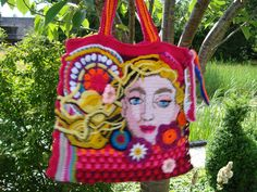 Crocheted free style bag.