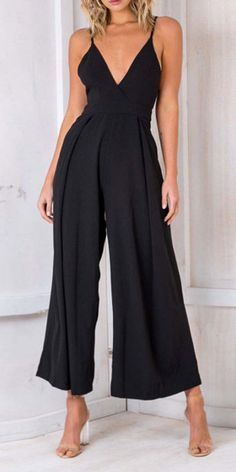Dark-blue Plunging Spaghetti Straps Backless Wide Leg Casual Jumpsuit Dark-blue Plunging Spaghetti Straps Backless Wide Leg Casual Jumpsuit @ Sexy Rompers And Jumpsuits For Women-Strapless Jumpsuit,Long Sleeve Jumpsuit,Long Sleeve Romper,Short Romp Backless Jumpsuit, Casual Jumpsuit, Summer Jumpsuit, Black Jumpsuit, Black Romper, Denim Jumpsuit, Jumpsuit Dress, Strapless Romper, Short Jumpsuit