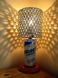 Busch Light Beer Can Lamp With Pull Tab Lamp Shade by LicenseToCraft on Etsy, $37.00