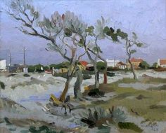 Sold | Boonzaier, Gregoire | Winters Day - Cape flats House Painter, Artist Painting, The Darkest, Arts And Crafts, African, Rainbow, Flats, Landscape, Gallery