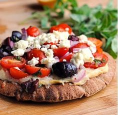How tasty do these Greek Pita Pizzas look? (Rhetorical)