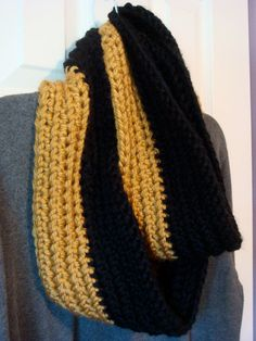 3bb5ac108b9 Items similar to Mizzou TIgers Scarf - Saints Scarf - Steelers Scarf -  Black and Gold Infinity Scarf or Choice of Color on Etsy