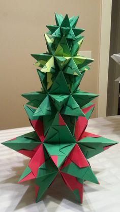 Large Origami Star Stacking Christmas Tree - $45 on etsy.