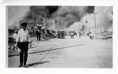 Black Wall Street in Tulsa went up in flames June 1, 1921, in the KKK-led Tulsa Race Riot. Does anyone have any additional context for this image?