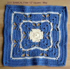 Butterfly Garden Square Motif By Chris Simon - Free Crochet Pattern - (ravelry)