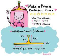How to make a Princess Bubblegum crown.