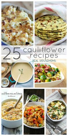 25 Cauliflower Recipes on Real Housemoms