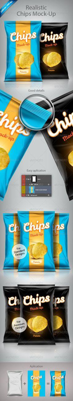 Premium And Standard Food Bag Mock-Ups - Product Mock-Ups Graphics
