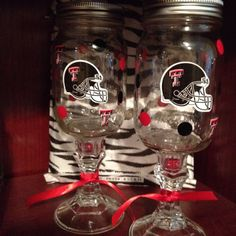 Texas Tech stemed glasses  on Etsy, $10.00