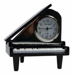 ChicMic Miniatur Uhr - Flügel, Klavier ca 6,5x6x3,5 cm - Vintage Uhr - Sammleruhr mit hochwertiger Geschenkbox